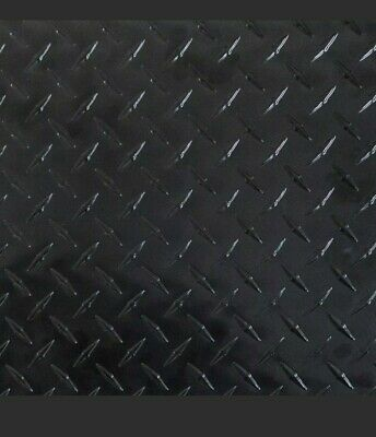 Black Aluminum Diamond Plate Sheet -1 Sheet - 0.025x48x100 Thickwide-long