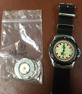 Serviced! TAG Heuer F1 Formula One WA1211 Men's Diver Watch - Luminous Dial!