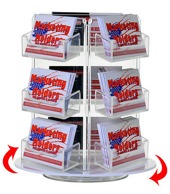 9 Pocket Rotating Business  Gift Card Holder Counter top Rack Display Spinner ()