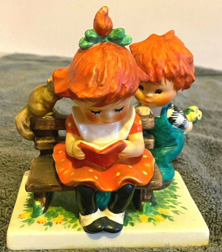 Antique Hummel Goebel Vintage Mid Century Modern German Redhead Boy Girl