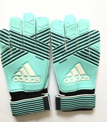 ff6c30c00 Adidas Soccer Ace Training Goalkeeper Gloves Aqua/Energy Blue - Size 8