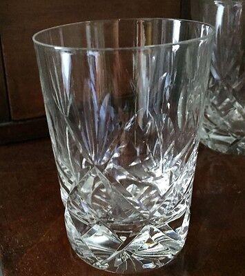 "6 Royal Brierley ""Elizabeth"" pattern whiskey tumblers"