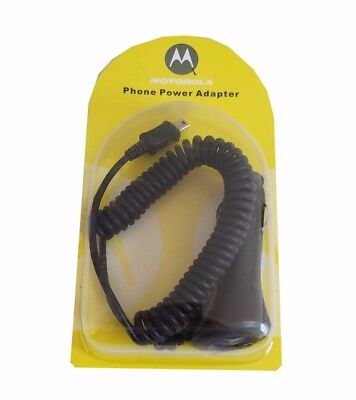 Mini-USB Travelling Charger / Car Charger by Motorola - Phone Power Adapter - Black