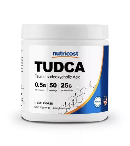 Nutricost Tudca Powder 25 Grams (Tauroursodeoxycholic Acid) - Gluten Free