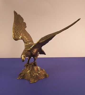 Vintage Brass Decorative American Eagle Bird Sculpture Free Standing Figurine  for sale  Shipping to Canada