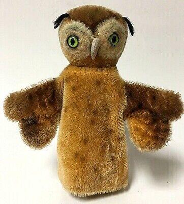 Vintage Steiff WITTIE The Owl Mohair Hand Puppet