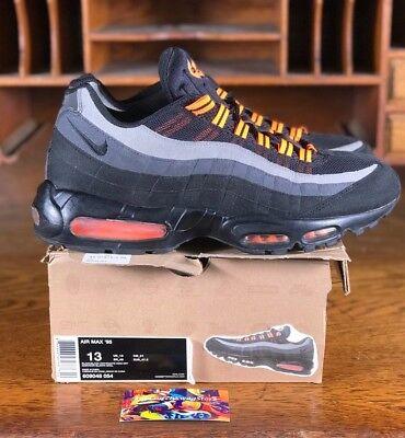Nike Air Max 95 Mens Running Shoe HALLOWEEN Black/Orange 609048 054 Size - Air Max Halloween 95