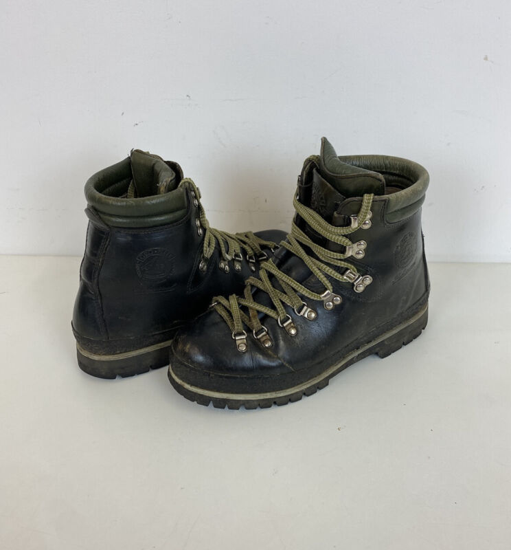 Vintage Gronell Mountaineering Boots Vibram Sole Sz 8 UK Mens