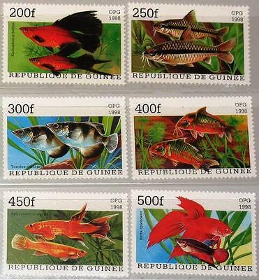 GUINEA 1998 1887 92 FISH FISCHE AQUARIENFISCHE SEA LIFE FAUNA MEERESTIERE MNH