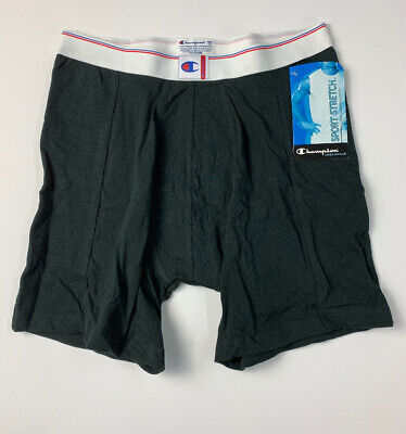 Champion Sport Stretch Boxer Brief Underwear Mens Black Size Medium NEW 2003 for sale  Shipping to India