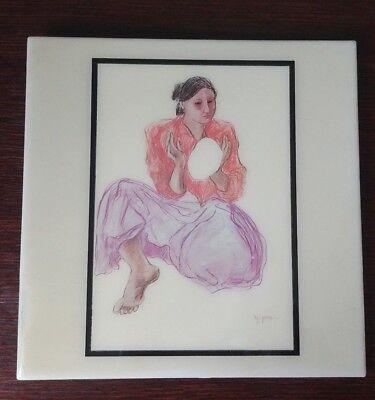 "R.C. Gorman Navajo artist Fine Art 8"" x 8"" Ceramic Tile  for sale  Plainville"