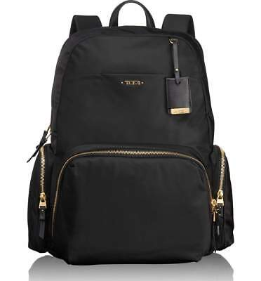 New AUTH Tumi $345 Calais Voyageur Backpack in Black for Business Travellers