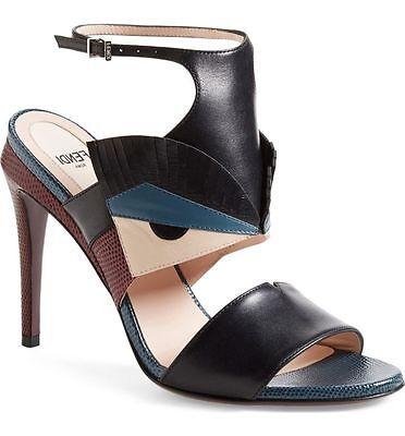 NIB FENDI BUGS Monster Leather Sandal Heel Ankle strap Shoe Shoes Sz 38 - 7,5 US