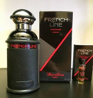 Revillon French Line After Shave  spray 3.3 oz / 100 ml + 3 ml EDT SAMPLE.