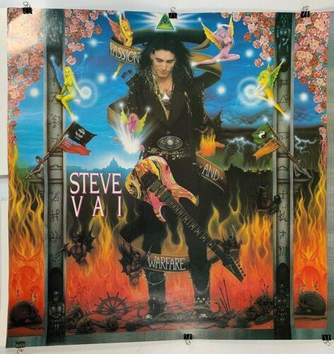 STEVE VAI GUITAR PASSION & WARFARE 1990 VTG MUSIC RECORD STORE PROMO POSTER