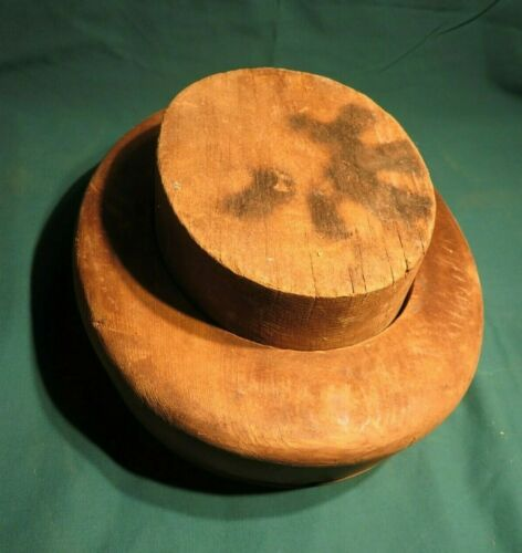 ANTIQUE HAT BLOCK FORM ~ MILLINERY INDUSTRIAL MOLD ~ WOOD FORM                 2