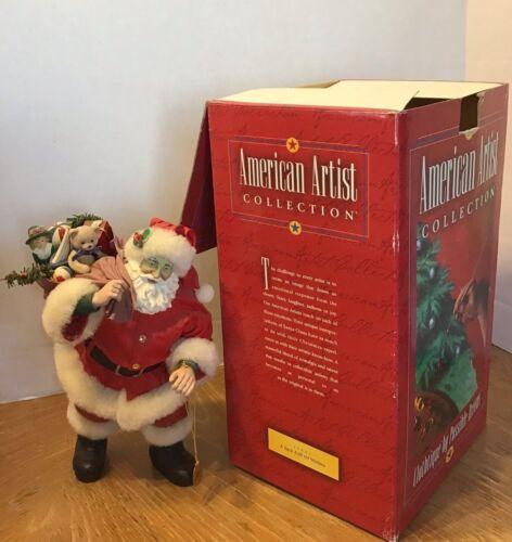 "CLOTHTIQUE POSSIBLE DREAMS SANTA Figure ""A Sackful of Wishes"" 1999 Christmas"
