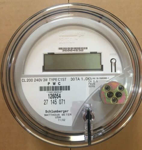 ITRON - WATTHOUR METER (KWH) C1ST, CENTRON - 240 VOLTS, FM2S, 200 AMPS, 4 LUGS
