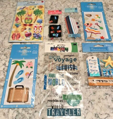 Scrapbooking Stickers 3D Fun Cruise Vacation Beach Trip Travel Party Bulk Lot