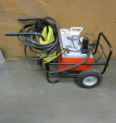 Spx Power Team Pe55a-fy-c-a-a-j-e Electric Hydraulic Pump W Hoses 10000psi