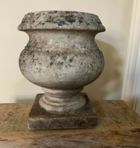 Antique Marble Stone Cache Pot Planter