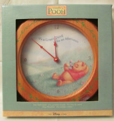 DS~New Disney Winnie the Pooh laying down in a Wild Grass Field Wall Clock