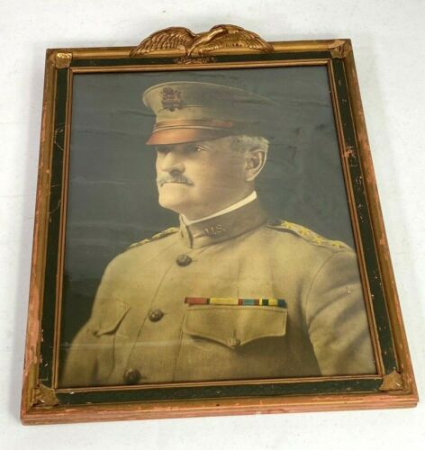 WWI US Army General John J. Pershing Framed Portrait