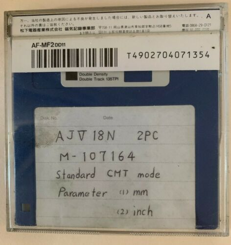 Mazak AJV-18N Standard CMT Mode Parameter Floppy Disk | # 4552
