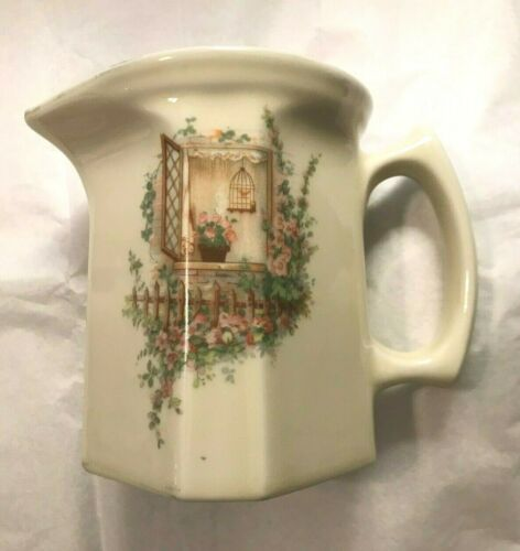 """Coors Porcelain Company """"Open Window"""" ~ Thermo Syrup Pitcher ~ No Lid ~ EUC"""