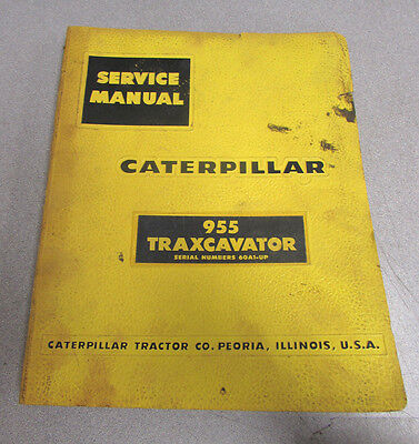 Caterpillar Cat 955 Traxcavator Service Repair Manual 60a1