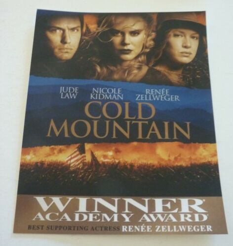 Cold Mountain Movie Law Kidman Zellweger 8x10 Color Promo Photo