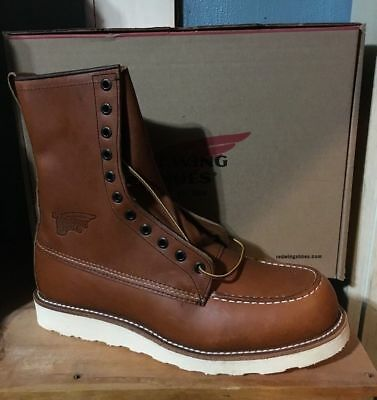 AUTHENTIC RED WING 10877 MADE IN USA 8 INCH WORK BOOT NEW IN BOX IRISH SETTER