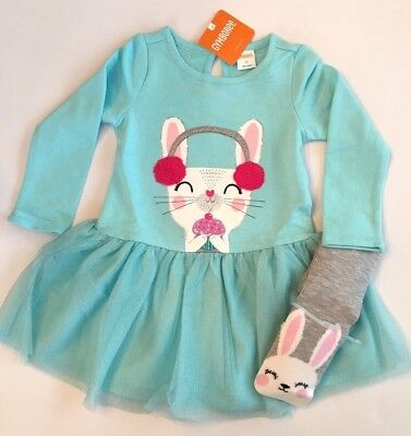Gymboree Girls Dress Tights Bunny Outfit 12 18 Months 5T NWT $54.90