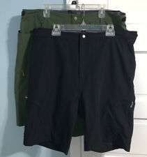 Lot of 2 Schwinn Men Mountain Bike Shorts XL Black Pocket Padded Lined Baggy