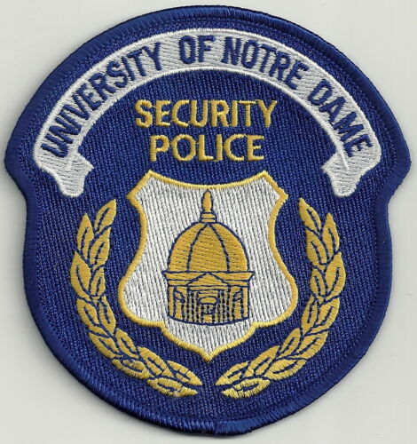 NOTRE DAME UNIVERSITY INDIANA SECURITY POLICE SHOULDER PATCH