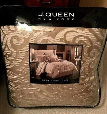 J. Queen New York 4 Piece Queen Comforter Set Astoria in Sand