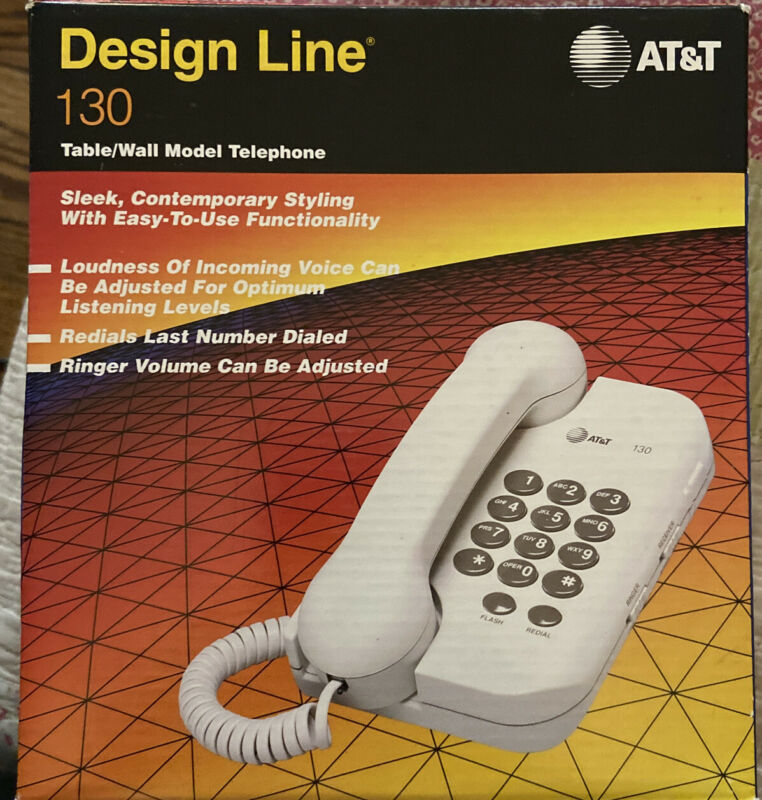 AT&T Design Line Table Telephone 130