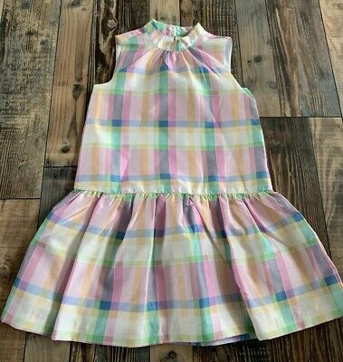 NWT GYMBOREE Girls Pink Blue Purple Yellow Plaid Dressy Easter DRESS Size 8 - Girls Easter Dresses Size 8