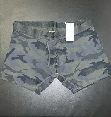 MENS ABERCROMBIE & FITCH CAMOUFLAGE GREEN BOXER BRIEF SIZE L Free Shipping!