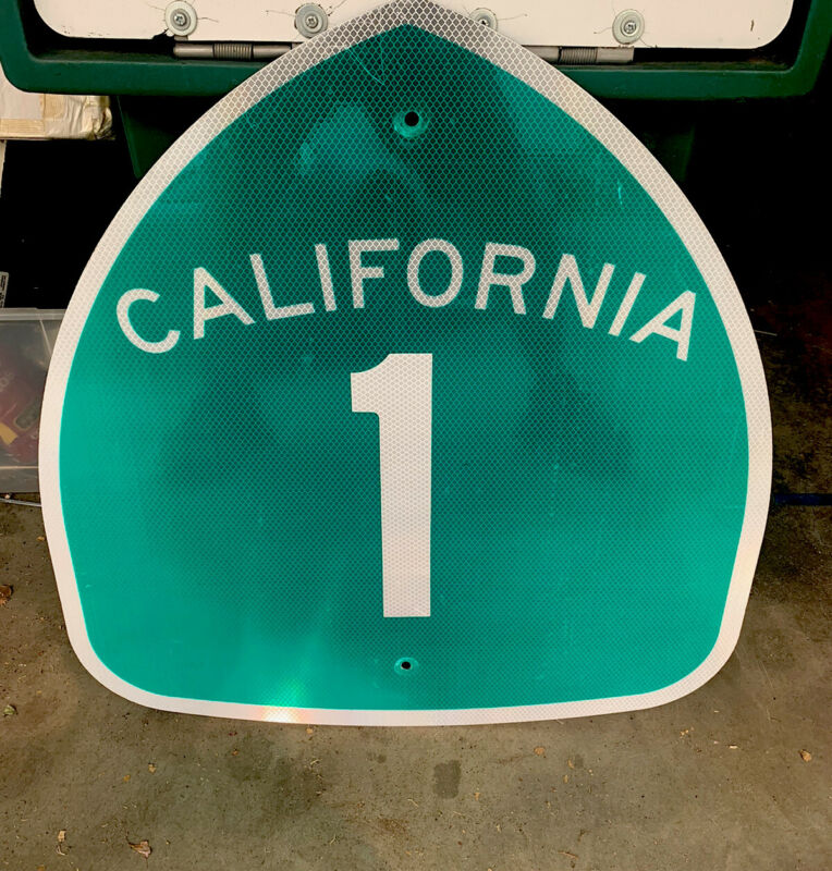 "California Highway Sign ""Highway Pch 1 Original 25 x 24 Inch"