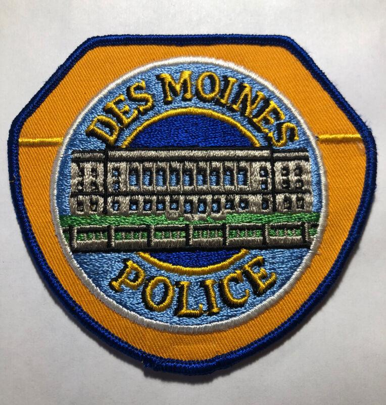 Des Moines Iowa Police Patch