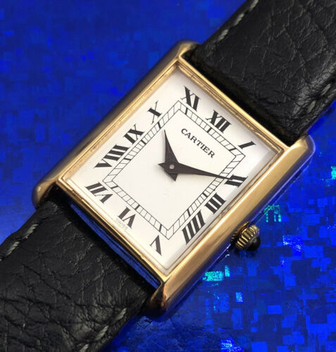 Unisex Cartier Hand Wind Wristwatch Roman Numerals , Fully Serviced w/ WARRANTY