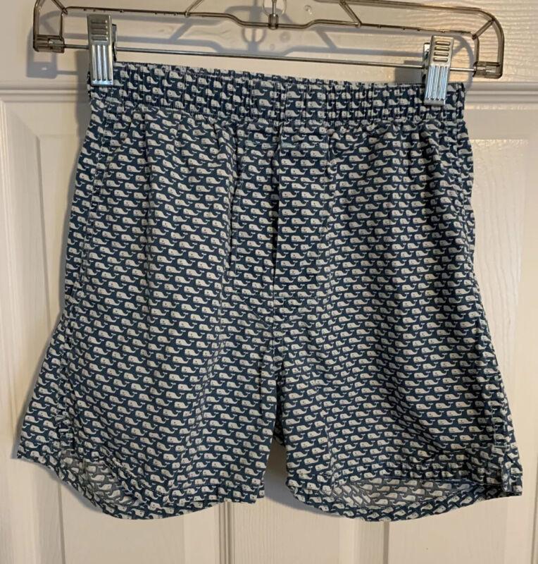 Vineyard Vines Boys Lounge Shorts Small (8-10) Blue Whale Print