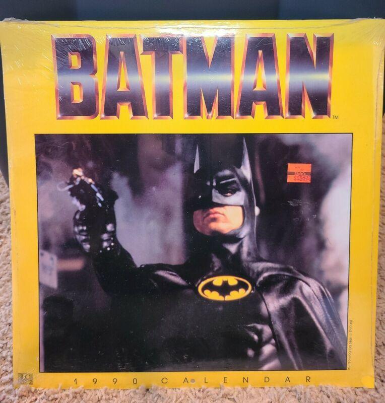 1990 - BATMAN MOVIE CALENDAR - KEATON, BASINGER, NICHOLSON - *FACTORY SEALED*