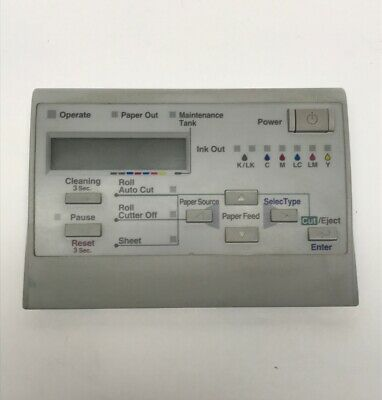 EPSON 7600 PRINTER OPERATION Control Panel and Board S-11998C for sale  Shipping to Canada