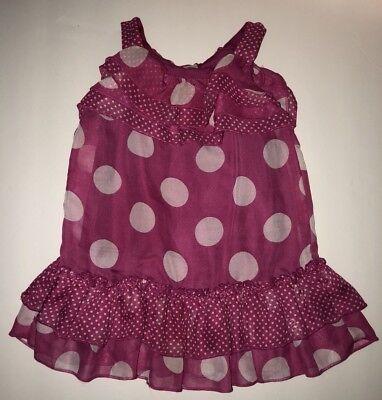 Pink And White Polka Dot Toddler Dress (George Pink And White Polkadot Dress. Toddler Girls Size 18)