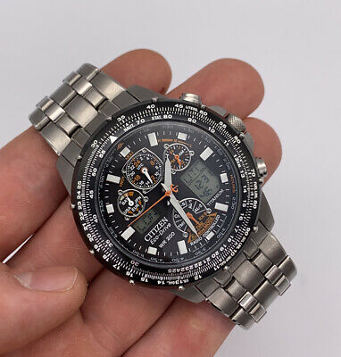 Mens Citizen Eco-drive Skyhawk AT Titanium Watch