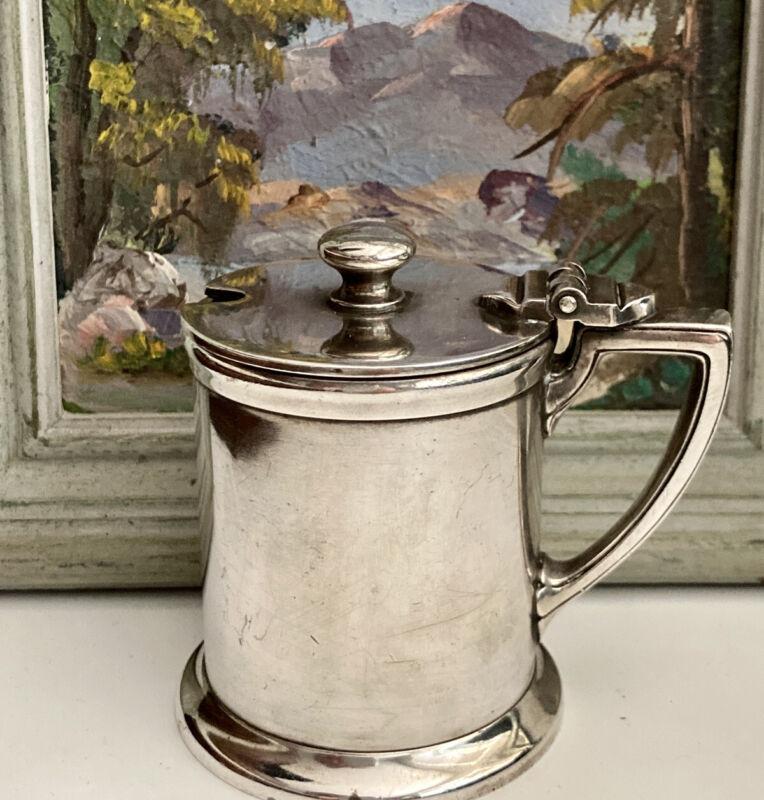 1928 Gorham Silver Soldered Mustard Pot Jar Westward Ho Hotel Phoenix Arizona