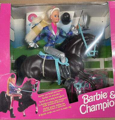 VINTAGE Barbie and Champion Horse Play Gift Set 1994