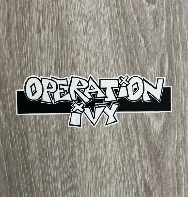 Operation Ivy Sticker - Punk Sticker Punk Rock Sticker Rancid